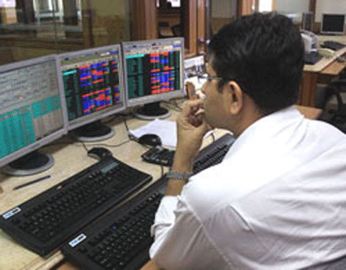 Sensex trades flat during noon session