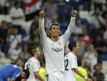 Ronaldo leads Madrid win with Bale injured