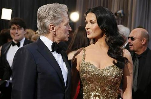 Michael Douglas thanks Catherine Zeta-Jones at Emmy Awards