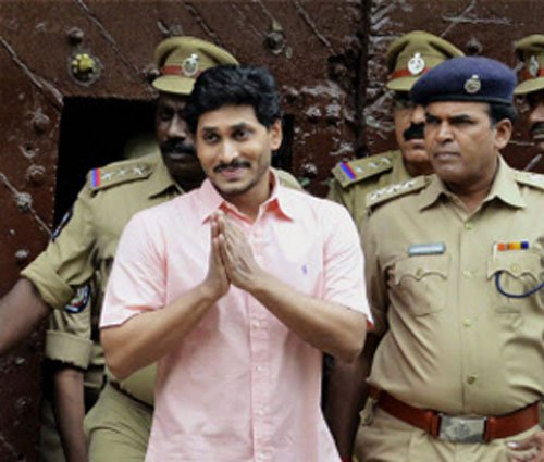 Jagan set to walk out of jail;supporters gather to welcome him