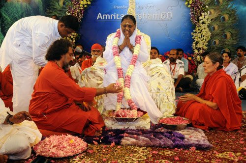 Spiritually-hungry foreigners flock to 'Amma' in thousands