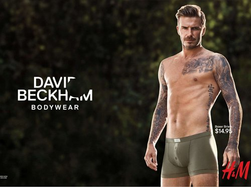 David Beckham back in briefs!
