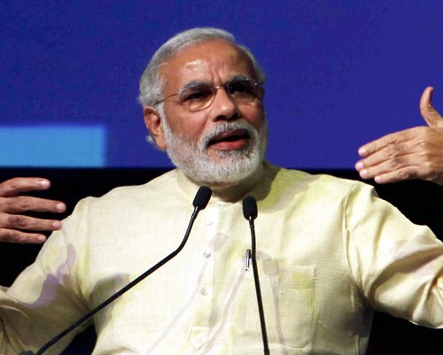 Toilets first, temples later, says Modi