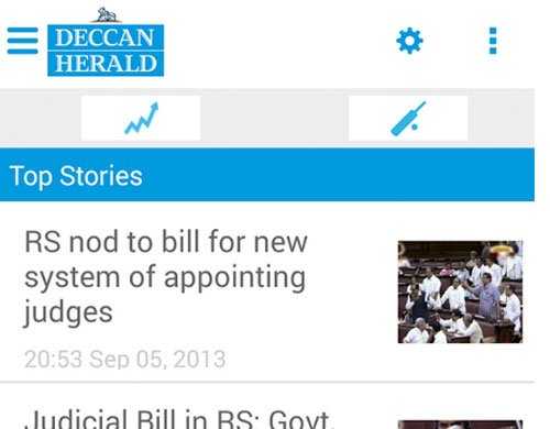 Deccan Herald Android app now live...