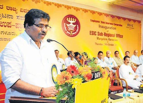 ESI hospitals not upto the mark: Minister