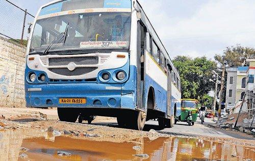Potholes hurt BMTC in many ways