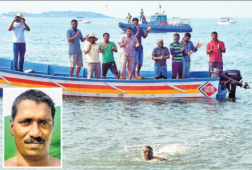 Udupi man swims into Guinness record