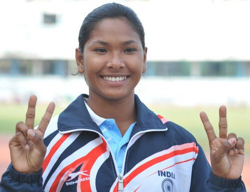 Swapna Barman breaks high jump national record