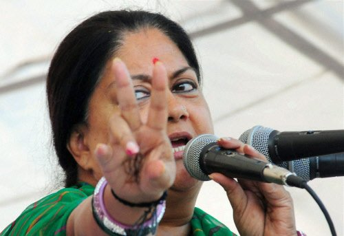 Modi behind BJP's good showing in Rajasthan: Raje