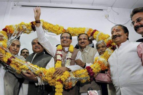 BJP romps home in Madhya Pradesh third time
