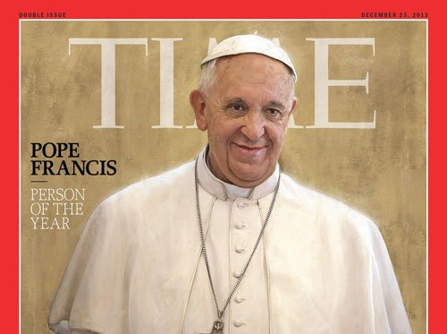 Time magazine names Pope Francis as Person of the Year