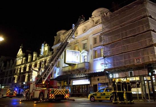 Almost 90 injured as ceiling collapses at London theatre