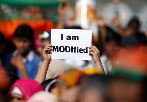 Modi asks people to vote for India