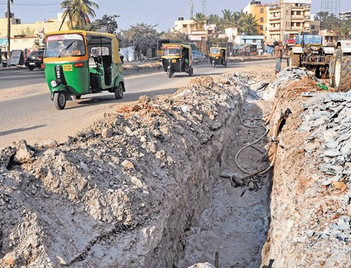 Repair works turn City roads into death traps