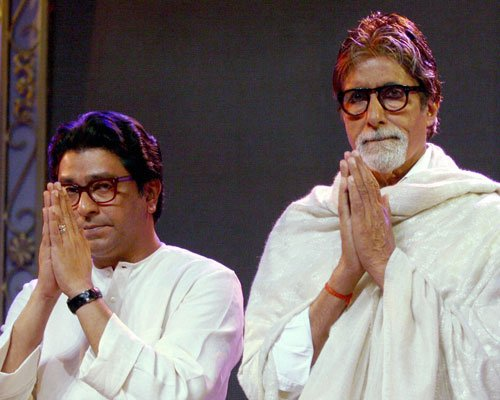 Big B sharing dais with Raj an insult to north Indians: Azmi
