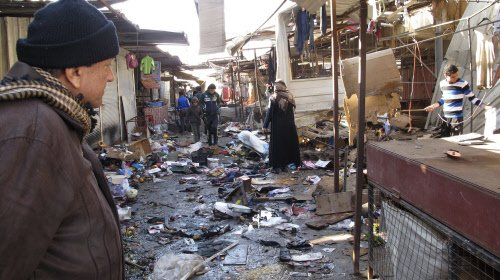 Market bombing, spate of attacks kill 44 in Iraq
