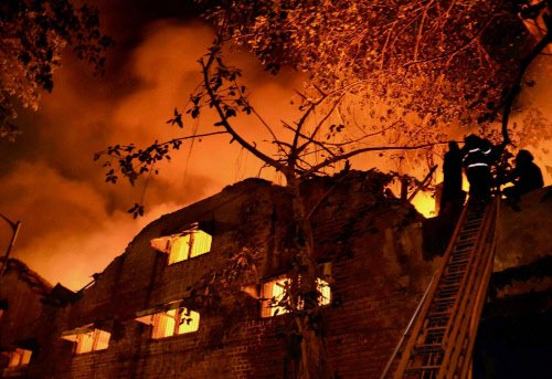 Major fire in Hyderabad timber depot