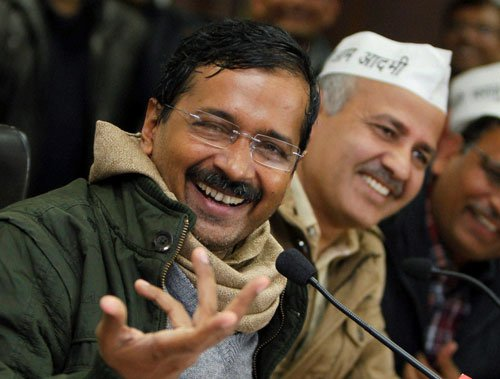 Kejriwal, others take oath as legislators