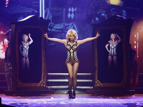 Britney Spears suffers wardrobe malfunction on stage