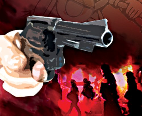 Two persons, including police officer incharge, shot dead