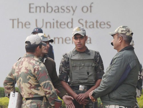 India steps up security for US Embassy