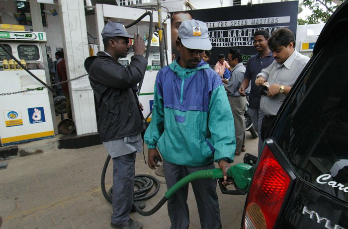 Petrol price hiked by 75 paise a litre, diesel by 50