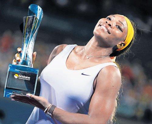 Serena fires first shot