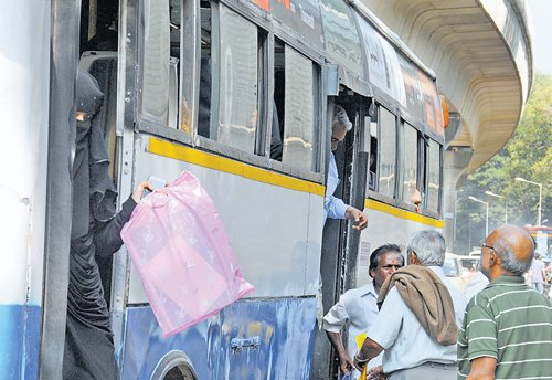 Arduous bus ride  for seniors