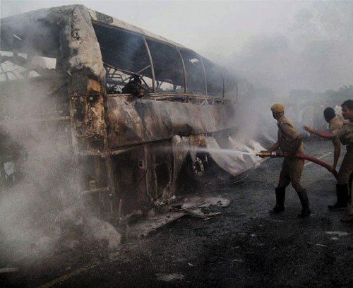 Two months after twin bus infernos, Volvo report not ready
