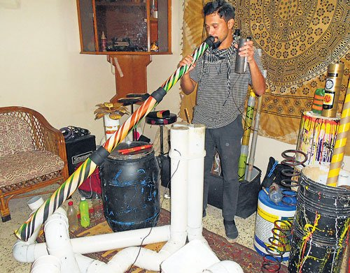 Making music out of waste objects