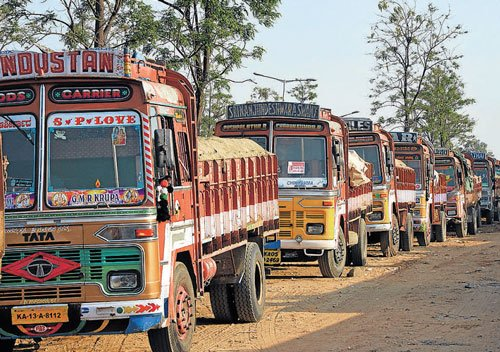 Transporters' strike today,  supply may  be affected