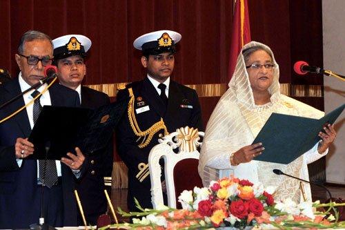 Sheikh Hasina becomes Bangladesh PM third time