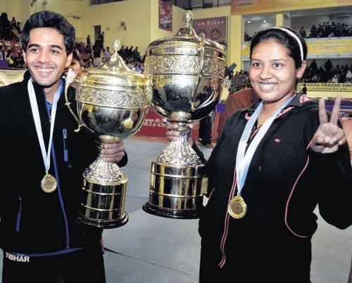 Sanil, Ankita crowned champions