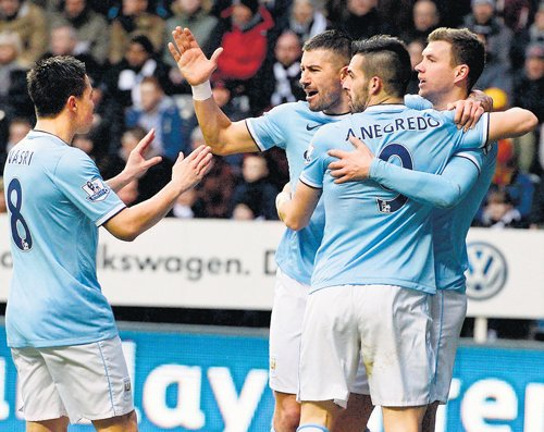 City on top with controversial victory
