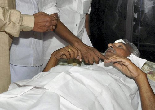Oommen Chandy hospitalised