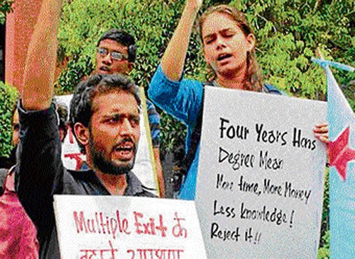 Anger against DU's FYUP refuses to abate
