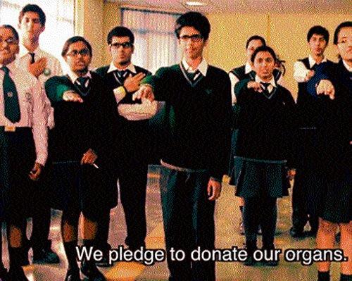 School children urge people to pledge organs