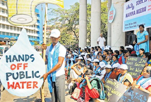 Campaign against privatisation of water