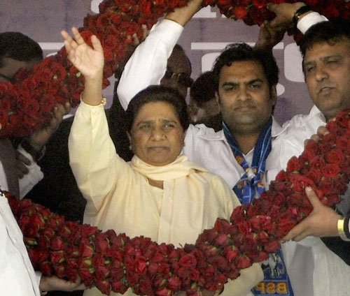 Congress, BJP, SP have joined forces against me: Mayawati