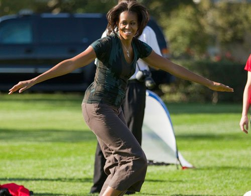 More yoga for Michelle Obama as she turns 50
