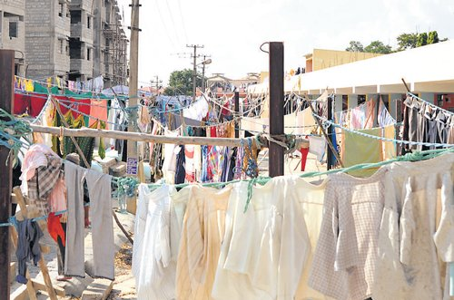 Washing dirty linen for a living