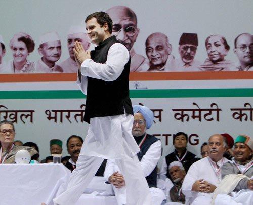 Rahul plays secular card at AICC