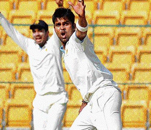 Vinay's burst wrecks Punjab