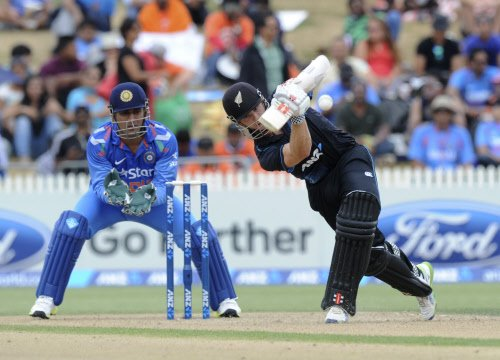 NZ score 271/7 in 42 overs, India to chase 297 via D/L method