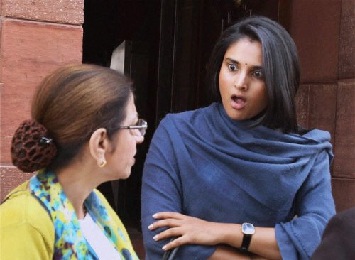 Ramya's candidature opposed; dissent in Congress party