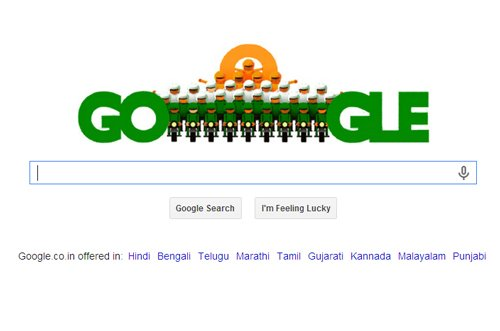 Tricolour Google doodle celebrates 65th Republic Day