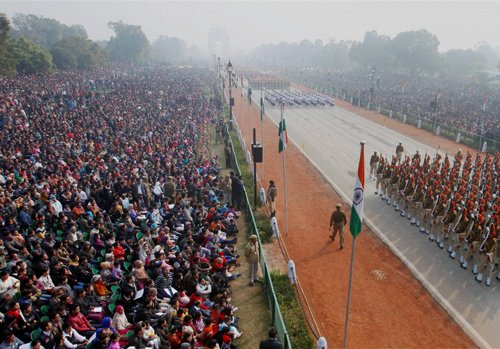 Zest and national pride among youth as they watch Republic Day parade