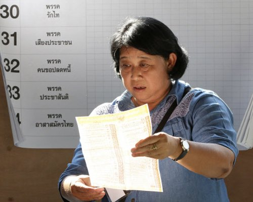 Thai polling end, ballot counting begins