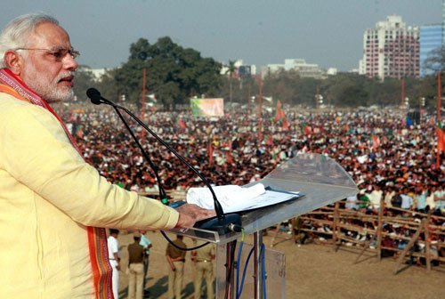 Bengal political parties attack Modi