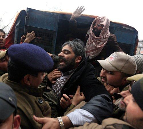 Kashmiri separatist leaders held after seminar on Bhat, Afzal Guru